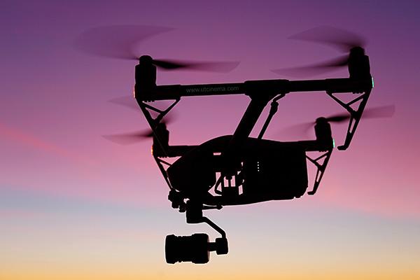 Photo of a drone DJI Inspire 2 during sunset at Rockaway Beach, NY by drone pilot Uladzimir Taukachou